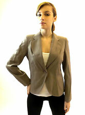 New Ladies Jacket Work Wear Fashion Coat Smart Fitted Marble Grey 8 10 12 14