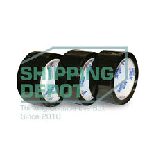 "1-72 Rolls 2x55 BLACK Colored Packing Carton Sealing Tape 2"" x 55yds 165ft"
