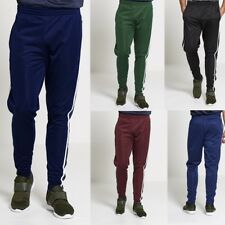 Fashion Mens Tracksuit Bottoms Striped Silky Casual Gym Jogging Joggers Sweat Pa