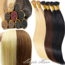 "18""20""22""24"" Stick I Tip Pre-Bonded 200S Remy Human Hair Extensions 1/0.5G N192"