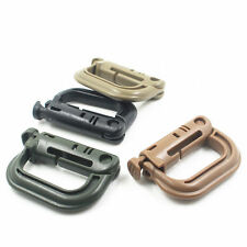 1pc/5pc Tactical Grimloc D-ring Molle Locking Safety Buckle Carabiner Hook Clip