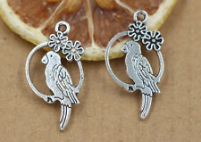 6/30/150pcs 23x14mm Tibet silver bird charms pendant jewelry