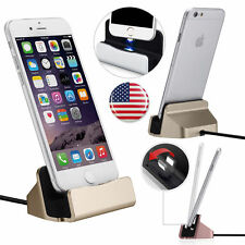 Desktop Charger Stand Docking Station Sync Dock Charge Cradle for iPhone 6 5s 7