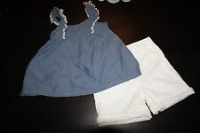 Girls 2-Piece Outfit Jeans Leggings Skirt Top Blouse Shorts Size 6 YOU PICK