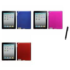 For Apple iPad 2 Snap-On Hard Case Phone Skin Cover Accessory Stylus Pen