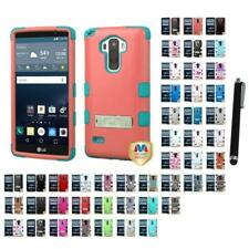 For LG G4 Stylus Phone Hybrid TUFF IMPACT Phone Case Hard Rugged Stylus Pen