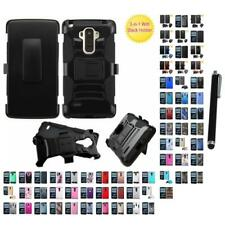 For LG G Stylo LS770 Hybrid IMPACT Hard TUFF Hybrid Case Phone Cover Stylus Pen