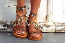 "Delos Art, Leather Boho Sandals, ""Atlantida"", Greek Sandals, Handmade Sandals"