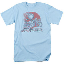Betty Boop ALL AMERICAN BIKER Licensed Adult T-Shirt All Sizes