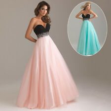 Women Long Sequin Strapless Evening Party Formal Dress Bridesmaid Ball Maxi Gown