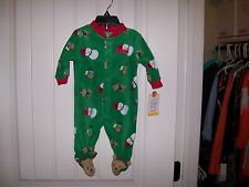 NEW! CARTER'S MY FIRST CHRISTMAS GIRLS & BOYS ONE PIECE FLEECE SLEEPER