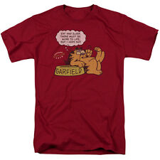 Garfield Comic Cat EAT AND SLEEP Licensed Adult T-Shirt All Sizes