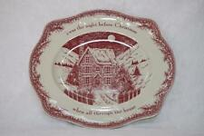"""JOHNSON BROTHERS TWAS THE NIGHT BEFORE CHRISTMAS SERVING PLATTER - 15"""""""