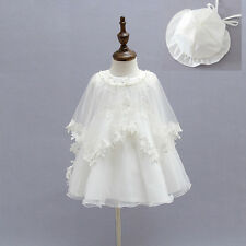 New Baby Toddler Girl Pageant Baptism Christening Wedding Formal Dress 3-24M