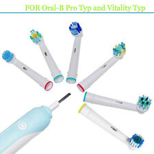 Generic Oral B Compatible Toothbrush Replacement Heads w/ Protective Cover