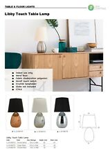 Touch Table Lamp Bedside Lamp w Black/White Shade