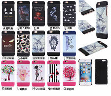 New Fashion Hard Leather Shockproof Hybrid PC Back Case Cover For iPhone Samsung