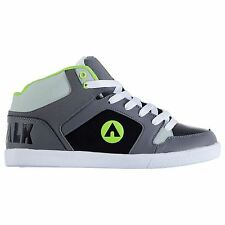 Airwalk Roxbury Mid Skate Shoes Mens Charcoal/Lime Trainers Sneakers Footwear