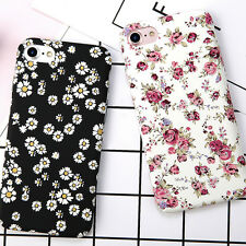 Shockproof Thin Flowers Pattern PC Hard Back Case Cover For iPhone 6 6s 7 Plus