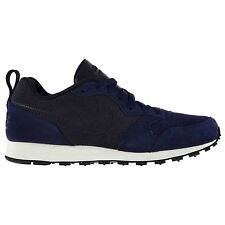 Nike MD Runner 2 Leather Trainers Mens Blue/Navy Sports Shoes Sneakers Footwear