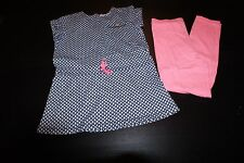 Girls 2 Piece Outfits, Playwear Clothes, Shirts Blouses Leggings Shorts Size 7