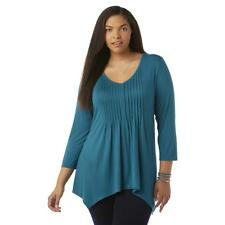 Women Tunic Top Dress Blouse Long Sleeved Clothes Spring New XL XXL V Neck Soft
