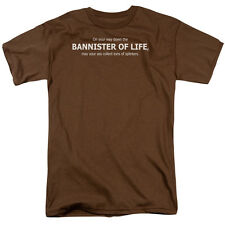 DOWN THE BANISTER OF LIFE Humorous Adult T-Shirt All Sizes