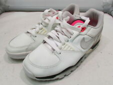 Vintage 1990 Nike Air Cross Trainer Lo Boys Running Shoes – Size 5 1/2 – White