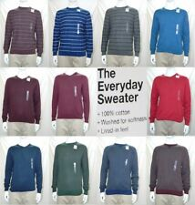 NEW Men's Sonoma Everyday Sweater 100% cotton long sleeve crew or V neck NWT