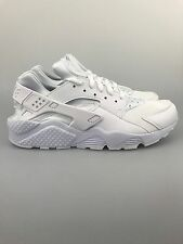 Mens Nike Air Huarache Triple White 318429-106 Running Shoes NSW