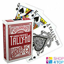 BICYCLE TALLY HO CIRCLE PLAYING CARDS DECKS STANDART INDEX LINOID FINIDH RED NEW