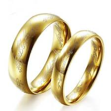 Lord of the Ring Gold 316L Stainless steel The Hobbit one Ring Wedding Band Ring