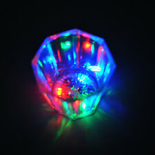 7 Color LED Flash Flashing LED Wine Glass Light Up Party Barware Drink Cups RF