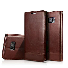 Leather Wallet Card Holder Magnetic Flip Stand Case Cover For Samsung S7 S8 Plus
