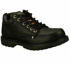 77017 Black Skechers Shoe Work Safety Men Leather Slip Resistant Memory Foam New