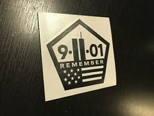 9-11 Memorial REMEMBER 911 WTC Sticker Decal Never Forget NYC fight terrorism