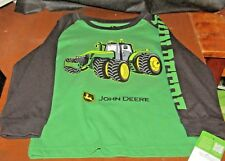 John Deere boys green w/tractor & black w/JOHN DEERE on left long sleeve