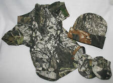 MOSSY OAK CAMO CAMOUFLAGE 3 PC INFANT SNAP UP DIAPER SHIRT GIFT SET