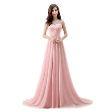 6-20 Long Chiffon Evening Formal Party Ball Gown Prom Bridesmaid Dress Wedding