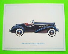 wow DICK POWELL - 1938 PACKARD DARRIN SUPER 8 ROADSTER PRINT w/ DATA CARD Xlnt+