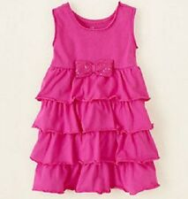 The Children's Place Pink Toddler Girls Tiered Knit Sleeveless Dress 2T 3T 4T