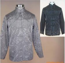 Double face Chinese men's silk/satin clothing jacket/coat SZ: M L XL XXL XXXL