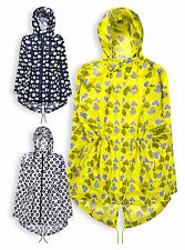Ladies Rain Jacket New Womens Printed Hooded Parka Anorak Coat Sizes UK 8-32