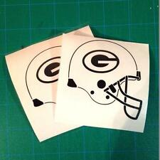 Green Bay Packers Helmet Sticker | SET OF TWO | Greenbay Packers Helmet Decal