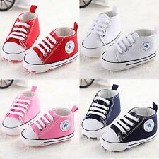 Newborn Infant Toddler Sport Sneakers Baby Boy Girl Soft Sole Crib Shoes 0-12M
