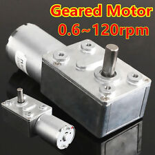 0.6RPM-120RPM Reversible High Torque Turbo Worm Geared Box Motor 12V Reduction ❉