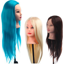 Hair Mannequin Head Training Styling Long Cosmetology Hairdressing Wig Models
