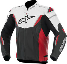 Alpinestars Mens White/Black/Red GP-R Perforated Leather Motorcycle Race Jacket