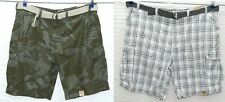 """NEW Men's Foundry Big & Tall Cargo Shorts Belted Camo or Plaid  11"""" inseam NWT"""