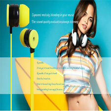 New 3.5mm Plug Earphone Stereo Earbuds Headphone with MicroPhone